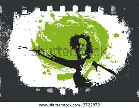 dancing girl in a film