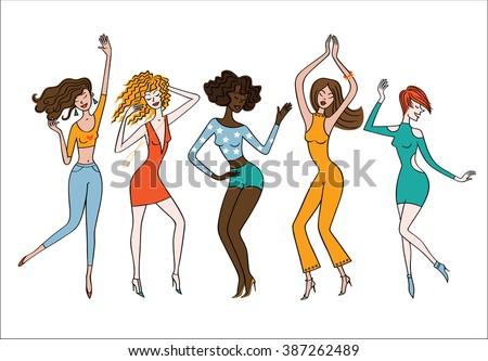 Dancing girls. Dance party.