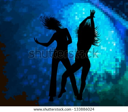 dancing girls in the spotlight
