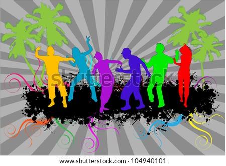 Dancing- grunge background