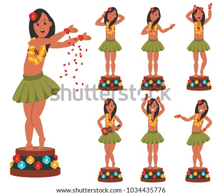 dancing hawaiian doll for car