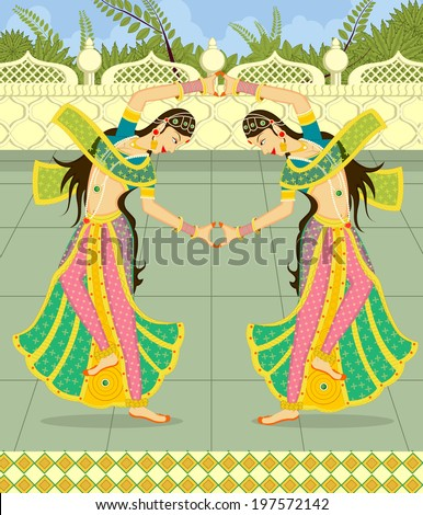 dancing indian ladies in indian ...