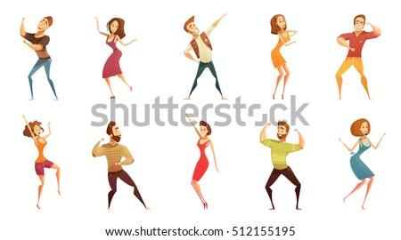 dancing people funny cartoon