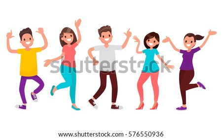 dancing people happy men and