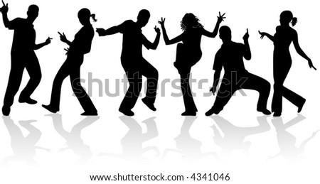 Dancing People , Vectors Work - 4341046 : Shutterstock