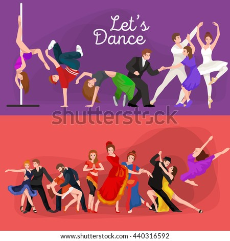 dancing people young man and