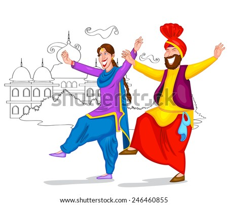 dancing punjabi couple of india