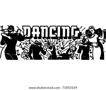 Dancing - Retro Ad Art Banner