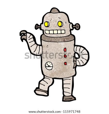 dancing robot cartoon