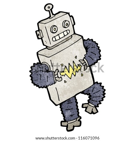 dancing robot cartoon