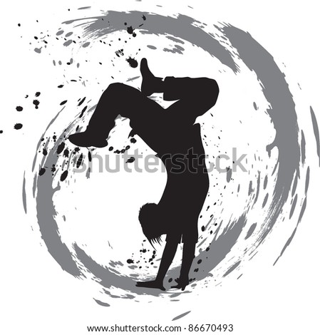dancing silhouette, breakdance