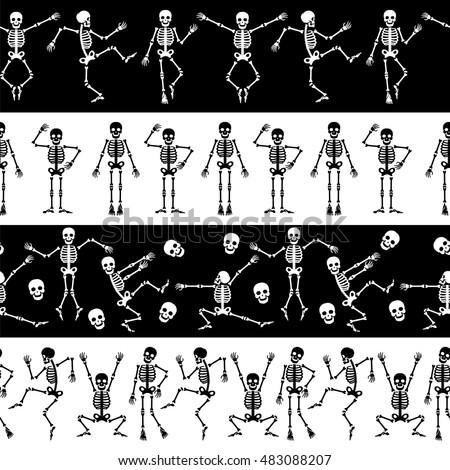 dancing skeletons seamless