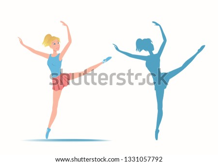 dancing sportive and young