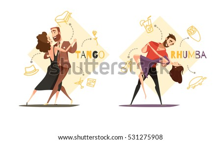 dancing tango and rhumba
