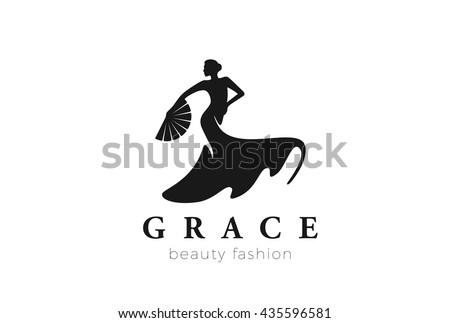 dancing woman logo fashion