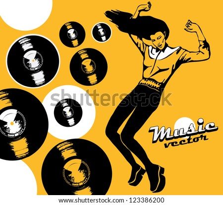 dancing woman on  poster of