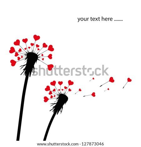 dandelion and heart shape seeds