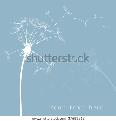 Dandelion card with place for text Vector