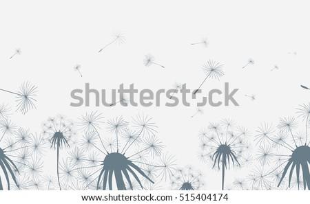 dandelion field seamless