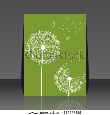 Dandelion flower background - flyer desing