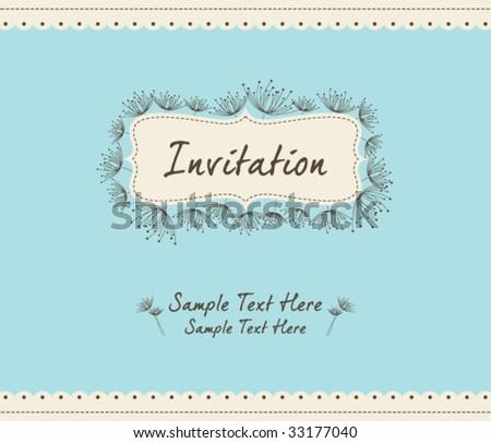 dandelion invitation template 04
