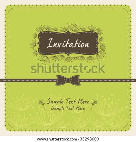 dandelion invitation template 09