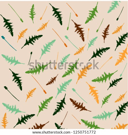 Dandelion leaves pattern