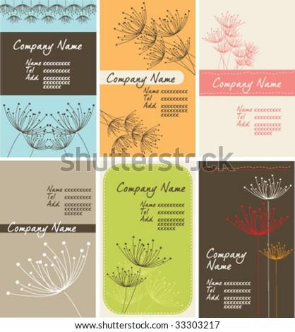 dandelion name-card set