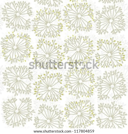 dandelion style delicate natural seamless pattern