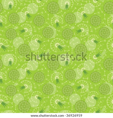 dandelions pattern in floral style