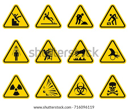 danger and caution signs