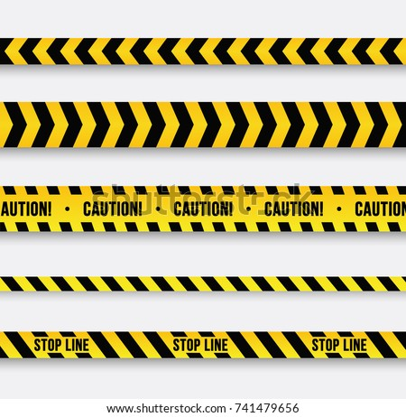 danger and police line. yellow...