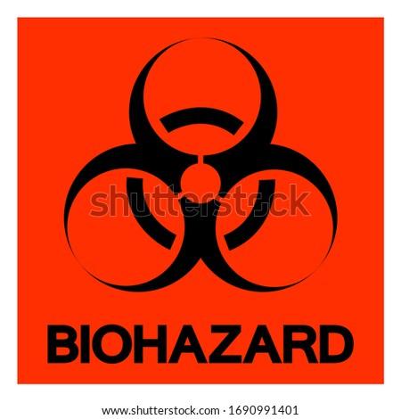danger biohazard symbol sign