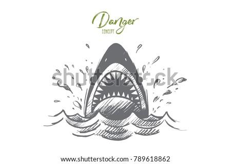 danger concept. hand drawn...