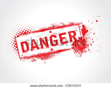 Airstock is - danger grunge tag with half tone background