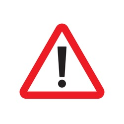Danger, hazard yellow symbol. Danger alert or attention. Attention triangle sign. Hazard alert information symbol. Flat vector illustration