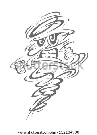 Danger hurricane or cyclone wind. Vector illustration