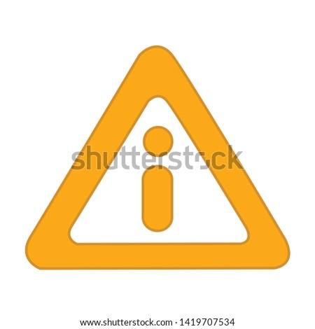 danger icon. flat illustration of danger vector icon for web