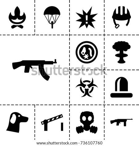 danger icon set of 13 filled