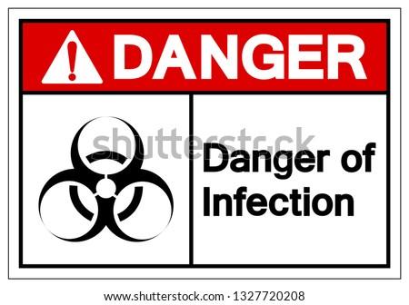 danger of infection symbol sign