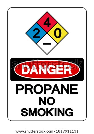 Danger Propane No Smoking Symbol Sign, Vector Illustration, Isolate On White Background Label. EPS10 Сток-фото ©
