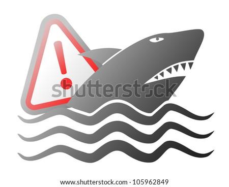 Danger shark Stock photo ©