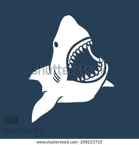 danger shark silhouettes in the