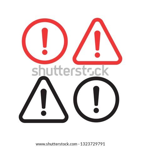 Danger sign design. Caution error icon. Photo stock ©