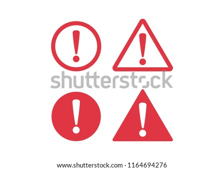 Danger sign flat design. Caution error icon.