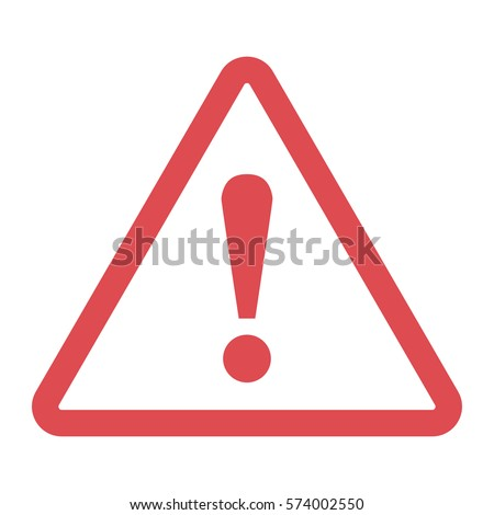 Danger sign in a flat design on a white background