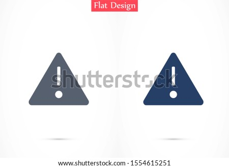 Danger sign vector icon. Attention caution illustration.Danger sign vector icon Business concept simple flat pictogram on white background.Danger sign vector icon.Danger sign vector icon