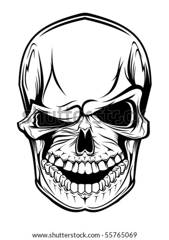 Danger skull as a warning or evil concept - also as emblem. Jpeg version also available in gallery
