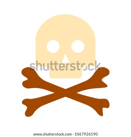 danger skull icon  vector skull ...