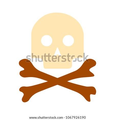 danger skull icon  vector skull